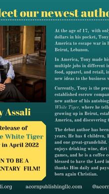 NEW AUTHOR, TONY ASSALI
