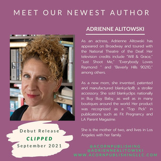 NEW AUTHOR - Adrienne Alitowski