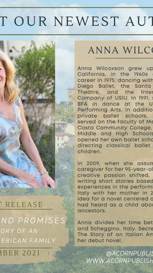 Meet Our New Author, Anna Wilcoxson!