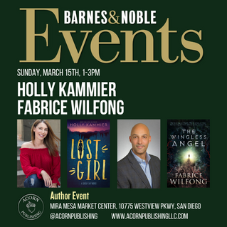 B&N Book Signing March 15th