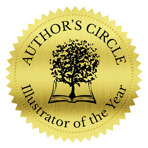 Author's Circle Illustrator of the Year Award Seal Stickers (100 count)