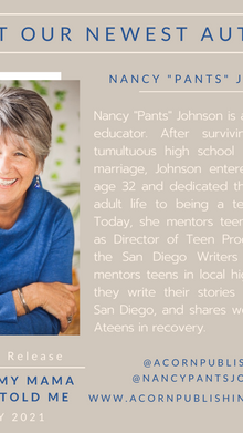 "NEW AUTHOR - Nancy ""Pants"" Johnson"