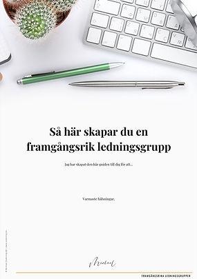 Guide; Så här skapar du en framgångsrik ledningsgrupp