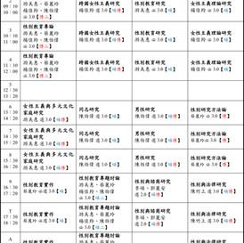 【公告】110學年度第一學期課表