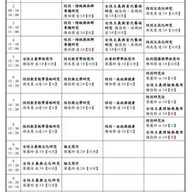 【公告】109學年度第二學期課表