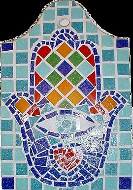 Mosaic Hamsa by Rossanna Nagli