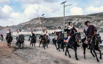 Welcoming the lama on horses- Anahi Clem