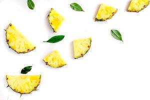 sliced pineapple in exotic summer fruit