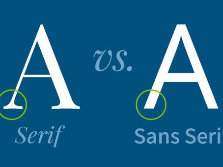 Font Confusion: Serif vs. Sans Serif