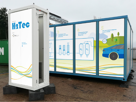 H2Tec and Logan Energy delivers Europe's first hydrogen refuelling station using the MC method