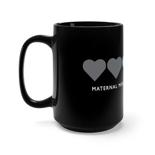 Maternal Hearts Mug, Black