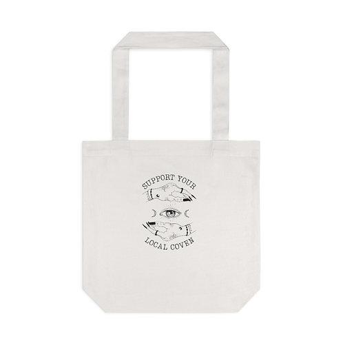 Witchy Feminist Tote Bag, Cream