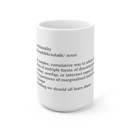Intersectionality Definition Mug, White