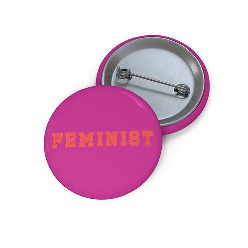 Magenta Varsity Feminist Pin