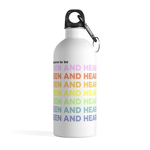 Seen and Heard Stainless Steel Water Bottle