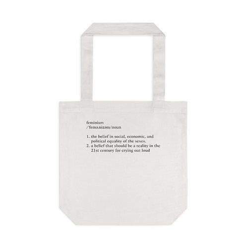 Feminism Definition Tote Bag, Cream