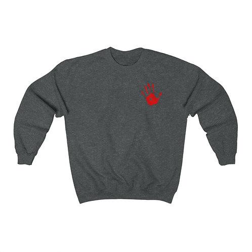 Red Handprint Feminist Sweatshirt