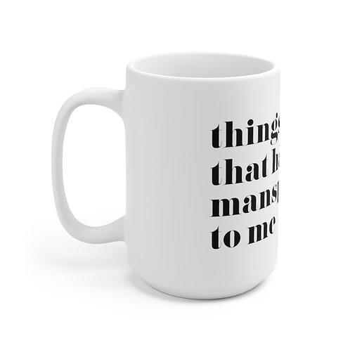 Mansplain Mug, White