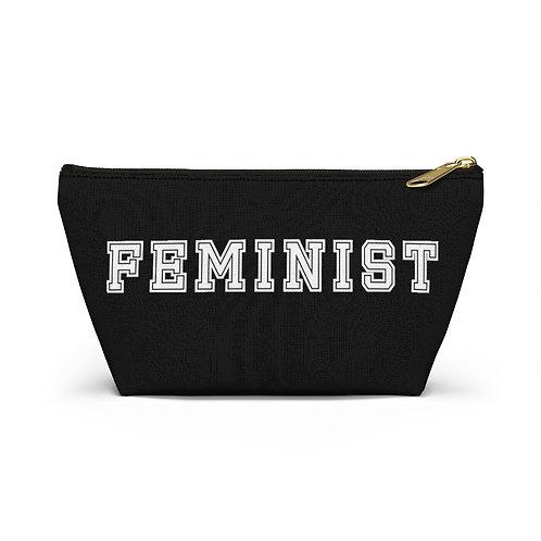 Varsity Feminist Pouch, Black
