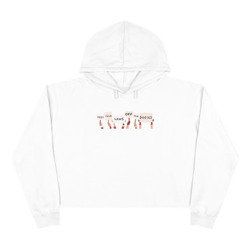 Protest Cropped Hoodie