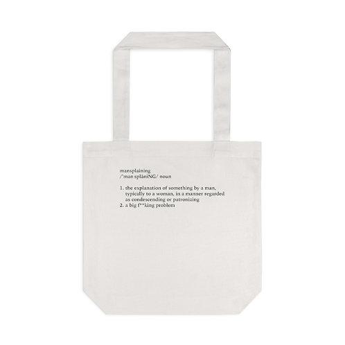 Mansplaining Definition Tote Bag, Cream