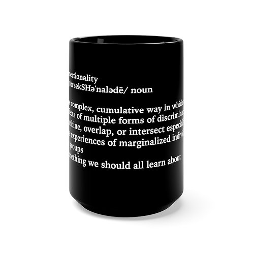 Intersectionality Definition Mug, Black