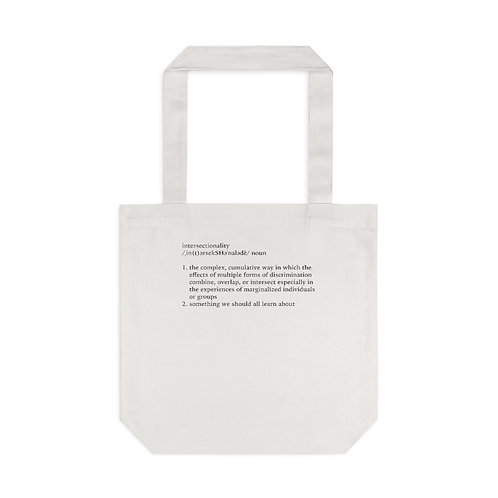 Intersectionality Definition Tote Bag, Cream