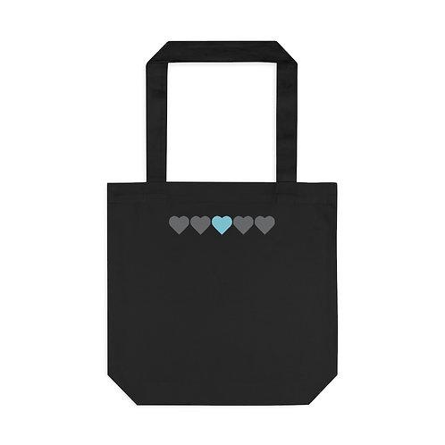 Maternal Hearts Tote Bag, Black