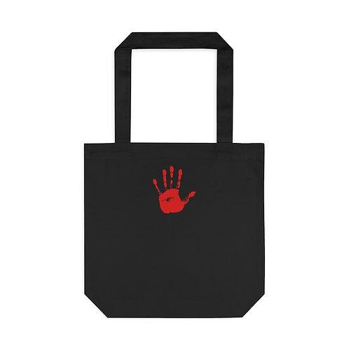 Red Handprint Feminist Tote, Black