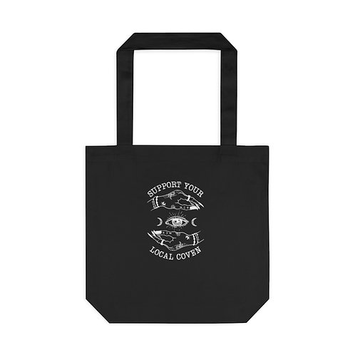 Witchy Feminist Tote Bag, Black