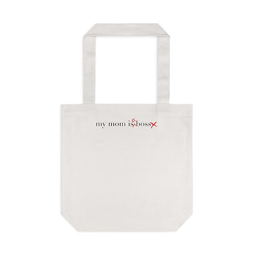 """""""My Mom is a Boss"""" Tote Bag, Cream"""