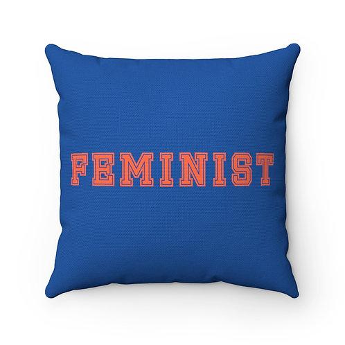 Varsity Feminist Throw Pillow