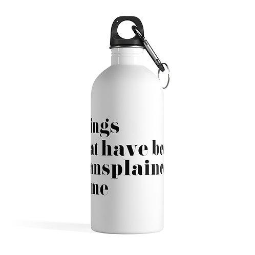 Mansplain Water Bottle