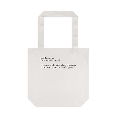 Pusillanimous Definition Tote Bag, Ivory