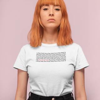 Strong Woman Wearing Feminist T-shirt