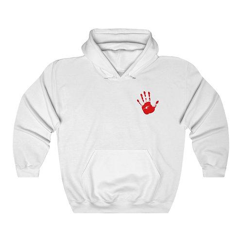 Red Handprint Feminist Hoodie