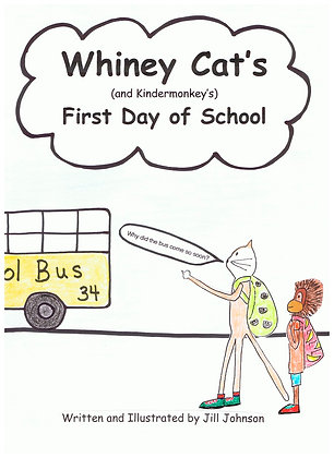 Whiney Cat (and Kindermonkey's) First Day of Schoo