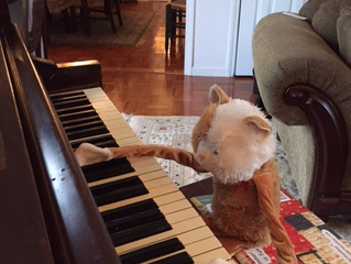 Whiney Cat's First Piano Lesson