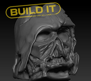 melted darth vader stl 3d print file sta