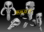 mando-skull 3d print file stl star wars