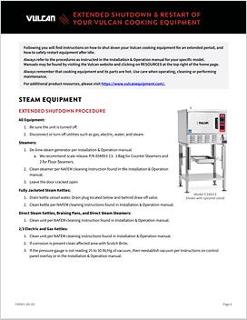 Vulcan: Steam Equipment Extended Shutdown Guide