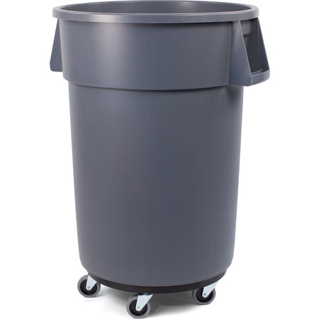 Carlisle- Bronco™ Waste Container, with black twist-to-lock dolly, 44 gallon