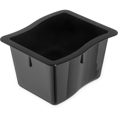 "Carlisle- Modular Displayware Pan, 1/2 size, 3.7 qt. capacity, 2-1/2"" deep"