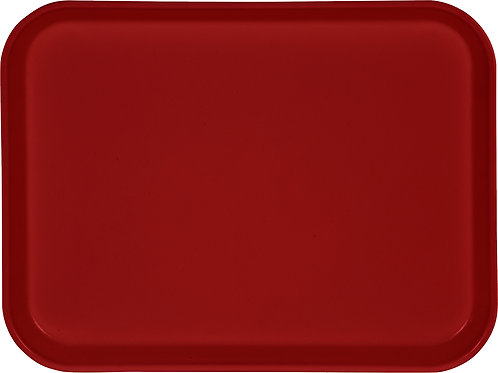 "Carlisle - Glasteel™ Solid Rectangular Tray 13.75"" x 10.6"" - Red"