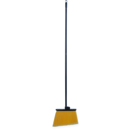 "Carlisle- Duo-Sweep® Lobby Angle Broom, 48""L black metal handle, 12"" wide head"
