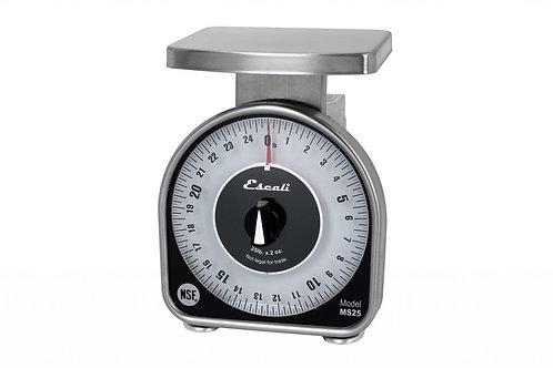 "San Jamar- 5 LB Escali Mechanical Dial Scale, 6-1/2""W x 6-3/4""D x 8-1/2""H"