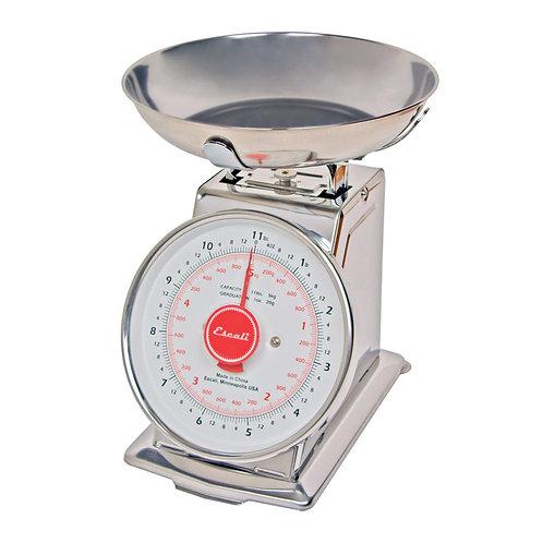 """San Jamar- Escali Dial Scale, 8""""W x 8-1/2""""D x 10""""H, 11 lb. x 1 oz./ 5 kg x 20 g"""