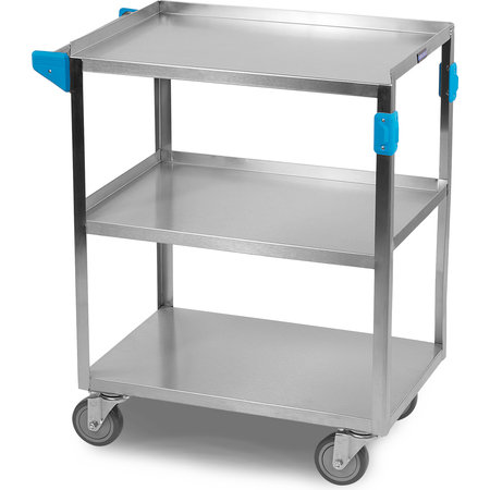 "Carlisle - Stainless Steel 3 Shelf Utility Cart 15.5"" x 24"" - Stainless Steel"