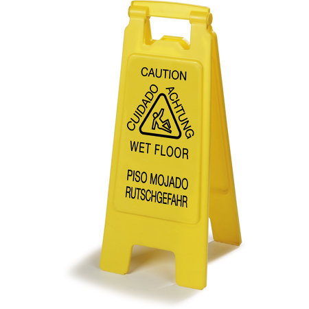 "Carlisle- Flo-Pac® Safety Floor Sign, ""Wet Floor"", 11""L x 25""H"