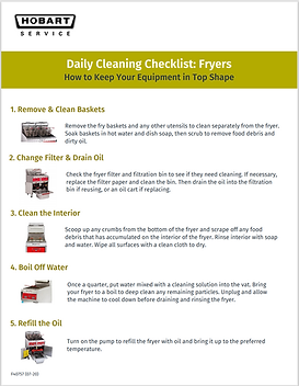 Hobart: Fryer Daily Cleaning Guide